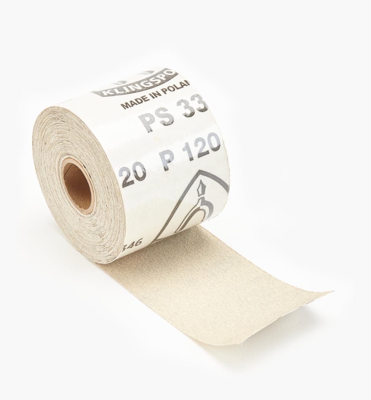 68Z7203 - Rouleau de papier autocollant de 30 pi, grain120