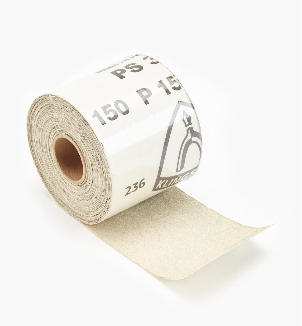 68Z7204 - Rouleau de papier autocollant de 30 pi, grain150