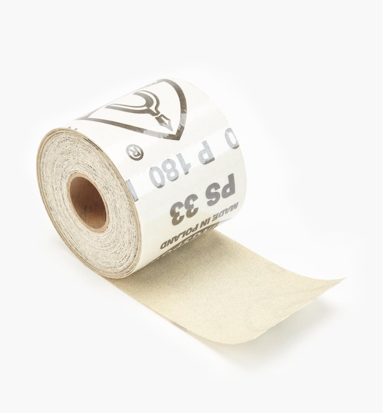 68Z7205 - Rouleau de papier autocollant de 30 pi, grain180