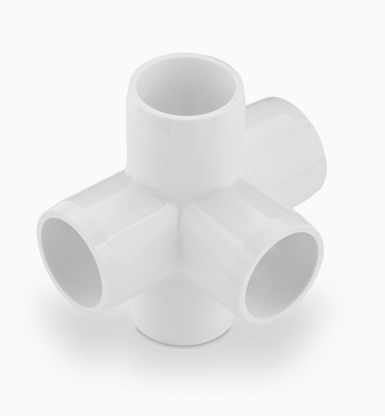 EA262 - Raccord coin en PVC à 5 embouts, 1/2 po, l'unité