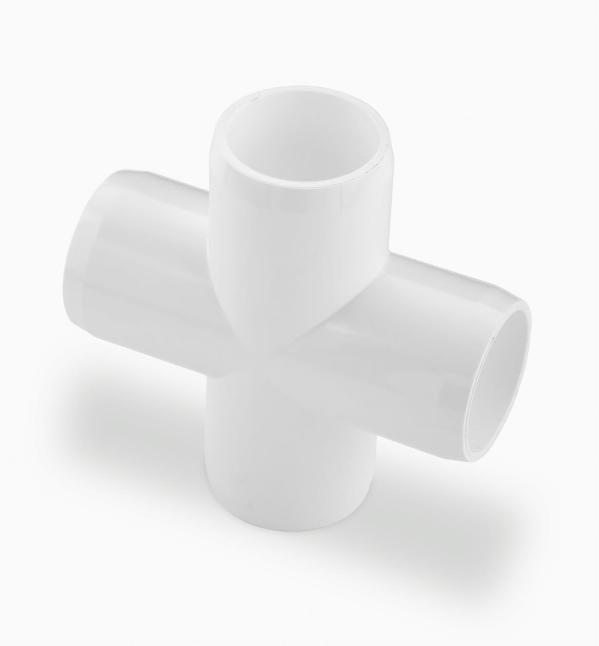 EA275 - Raccord croix en PVC, 3/4 po, l'unité