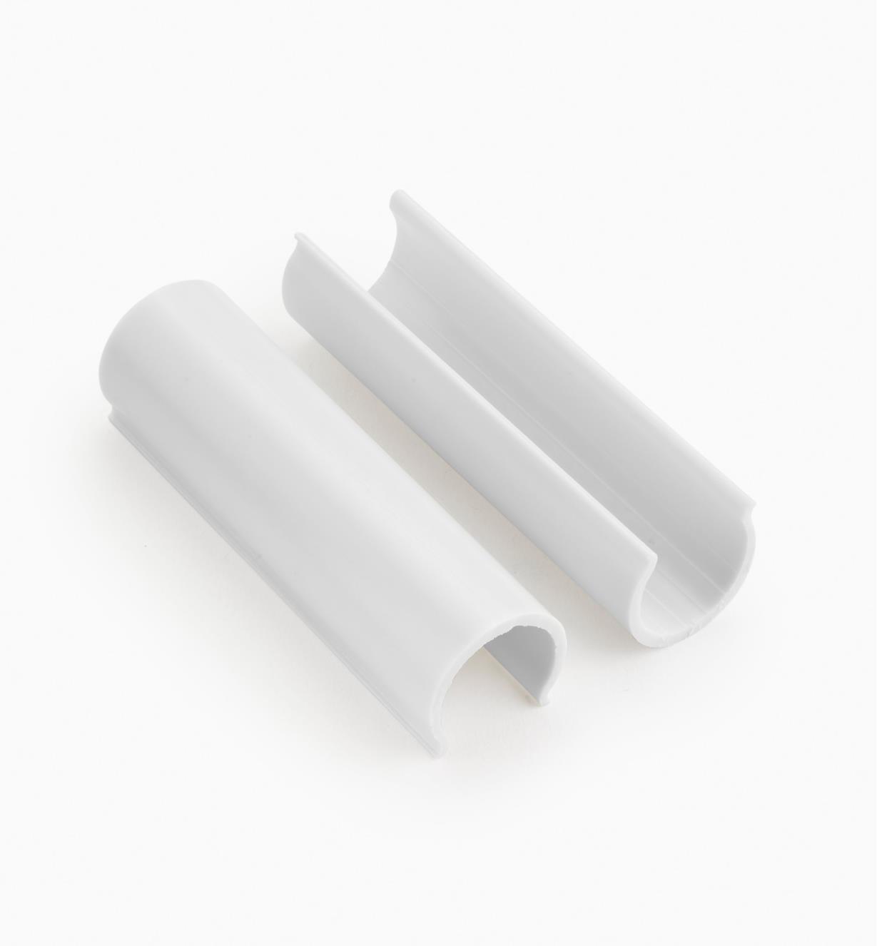 """EA282 - 1"""" U-Clip PVC Connector, pkg 10"""