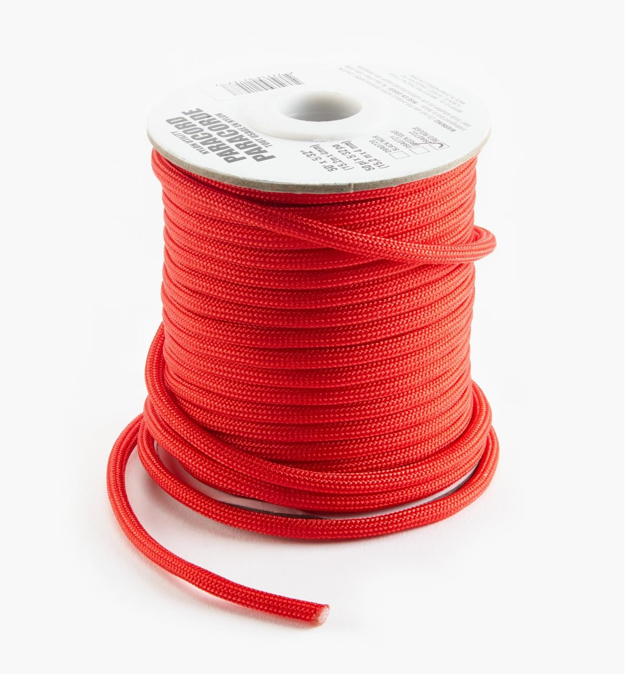 09A0722 - 50' Paracord, Red