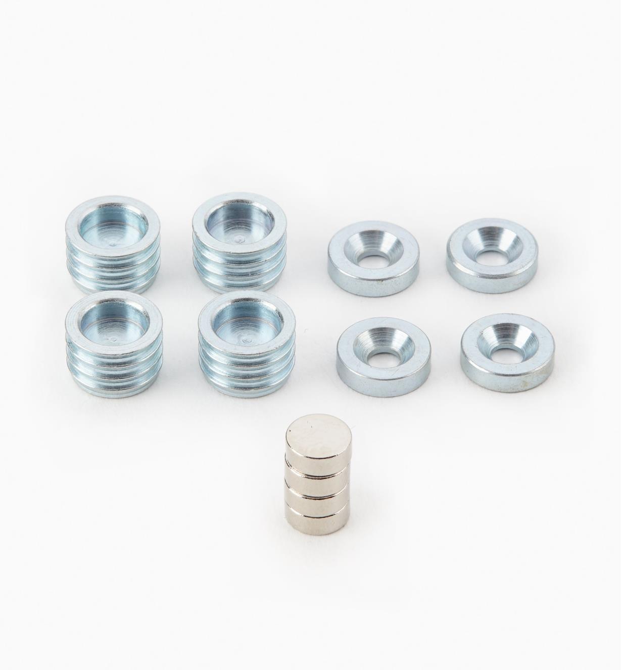 99K3310 - Ensemble de 12 pièces, aimants de 1/4po