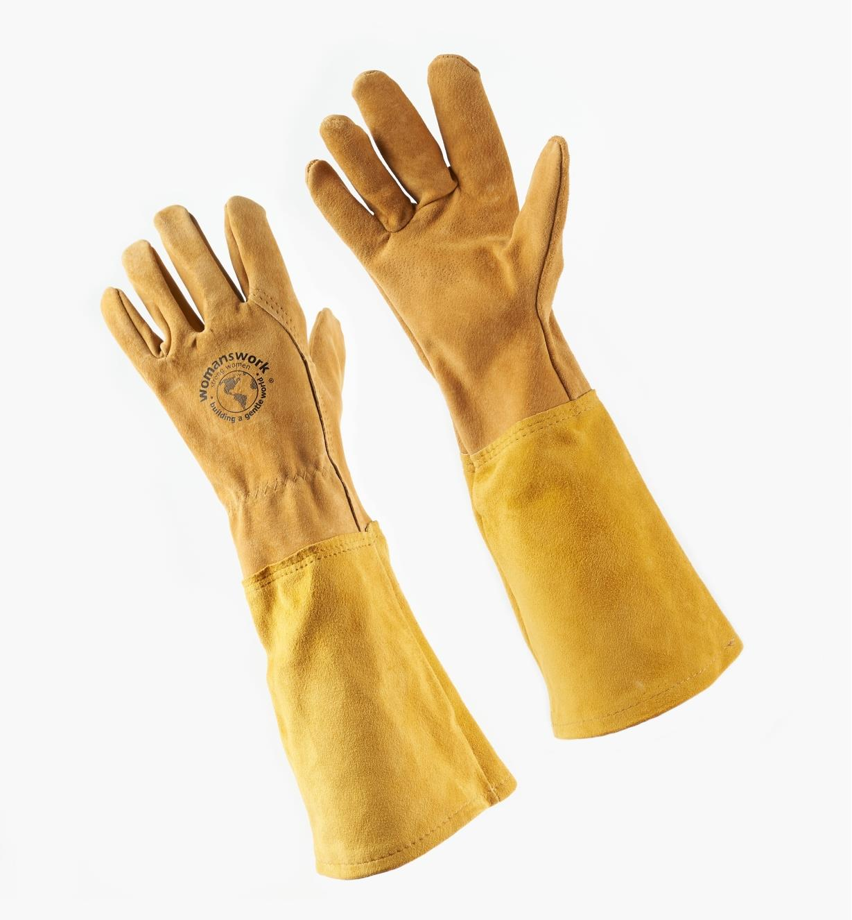 AH942 - Women's Rose Gloves, L (size 8)