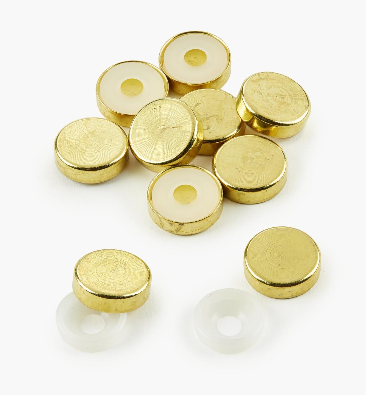 00S5201 - Brass Screw Covers, pkg. of 10