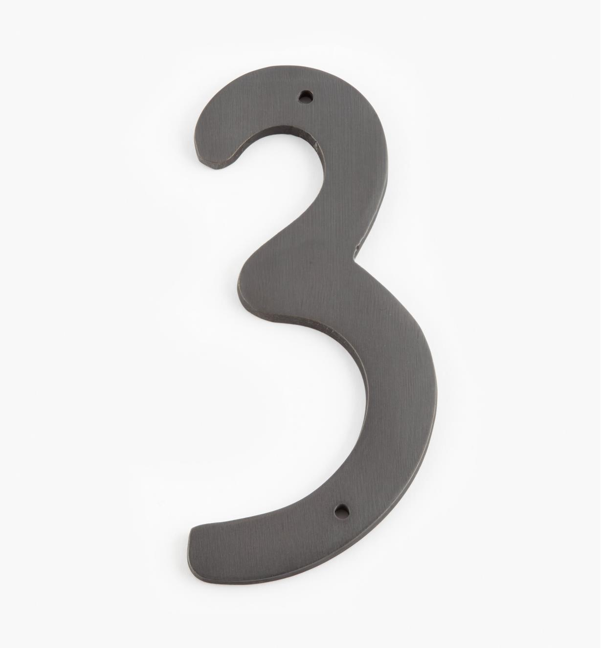 "00W0643 - 4"" Script Oil-Rubbed Bronze Number - 3"