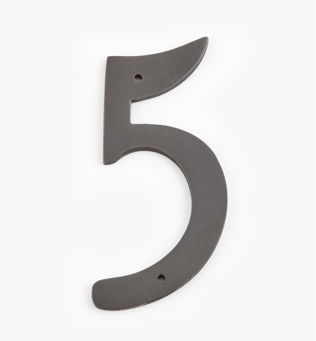 "00W0645 - 4"" Script Oil-Rubbed Bronze Number - 5"