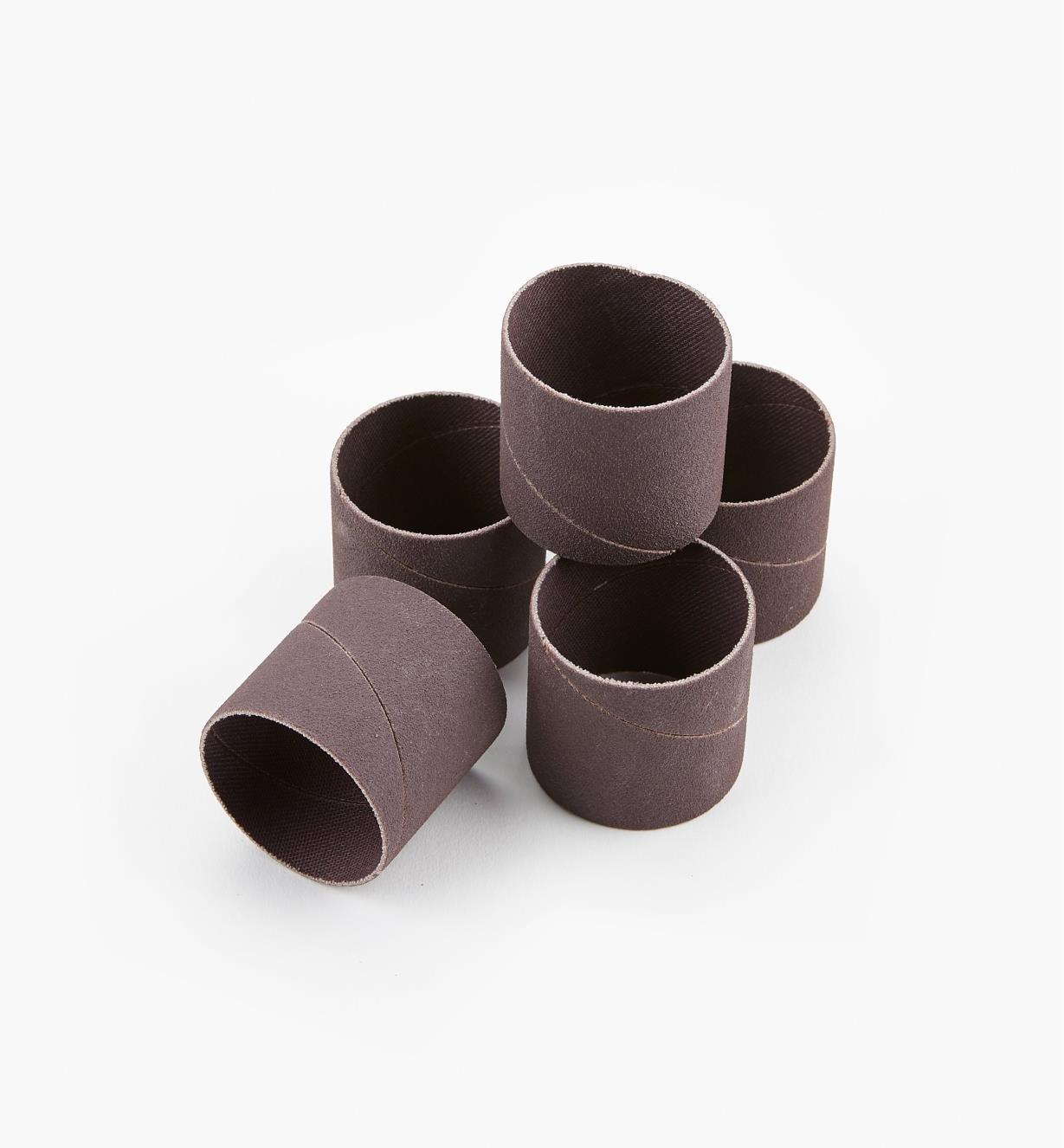 68Z0105F - Manchons grain fin, 11/2pox11/2po, lepaquetde5