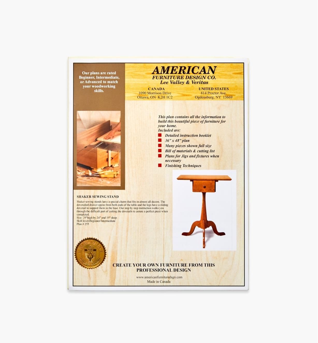 01L5091 - Shaker Sewing Stand Plan