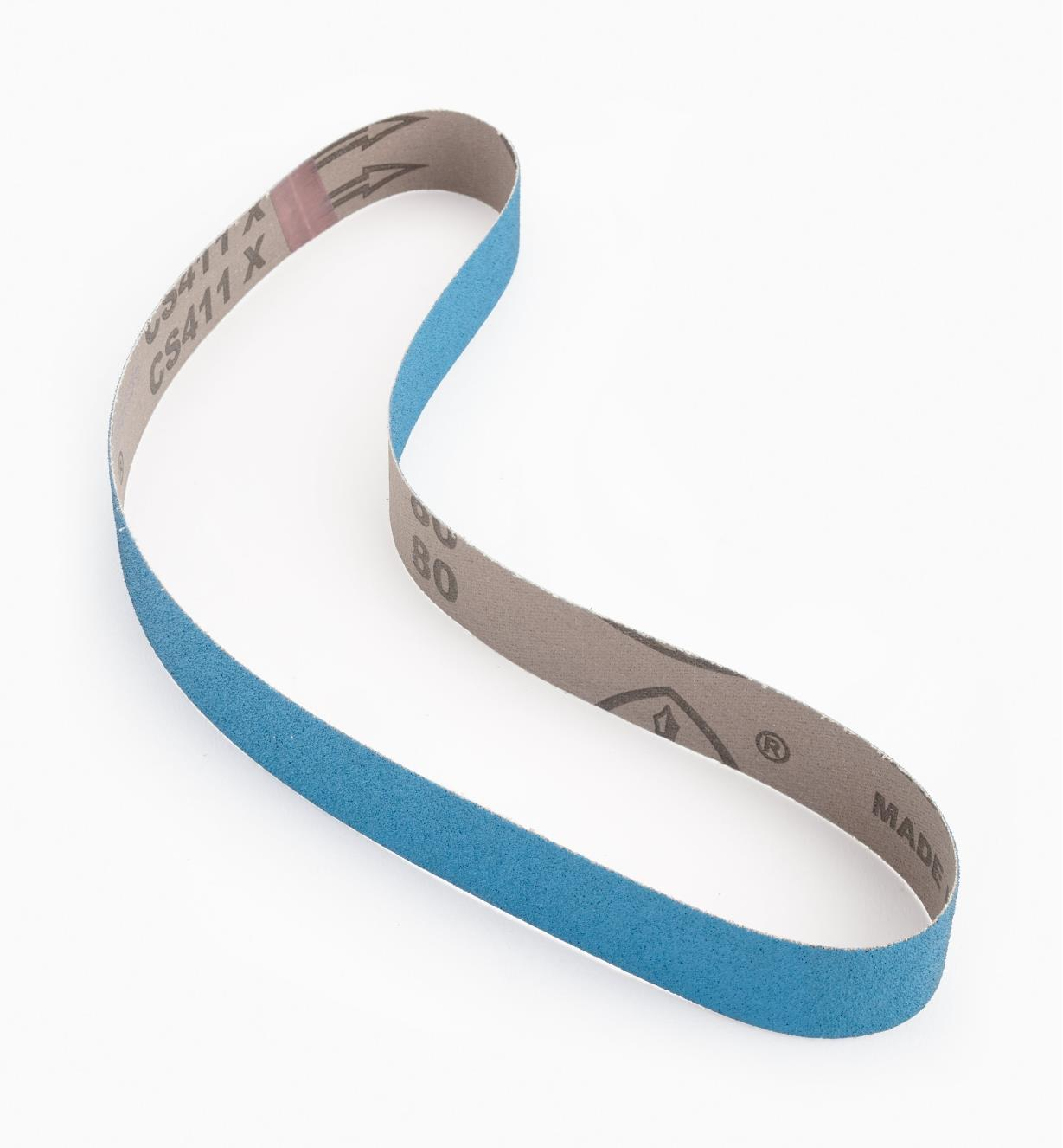 "68Z23008 - 1"" x 30""80x Blue Zirconia Sharpening Belt"