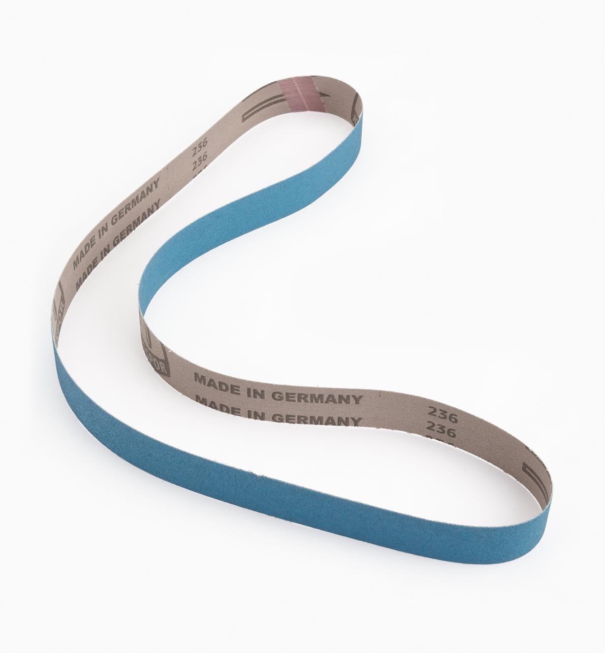 68Z24212 - Courroie d'affûtage en zircone bleue de grain120, 1pox 42po
