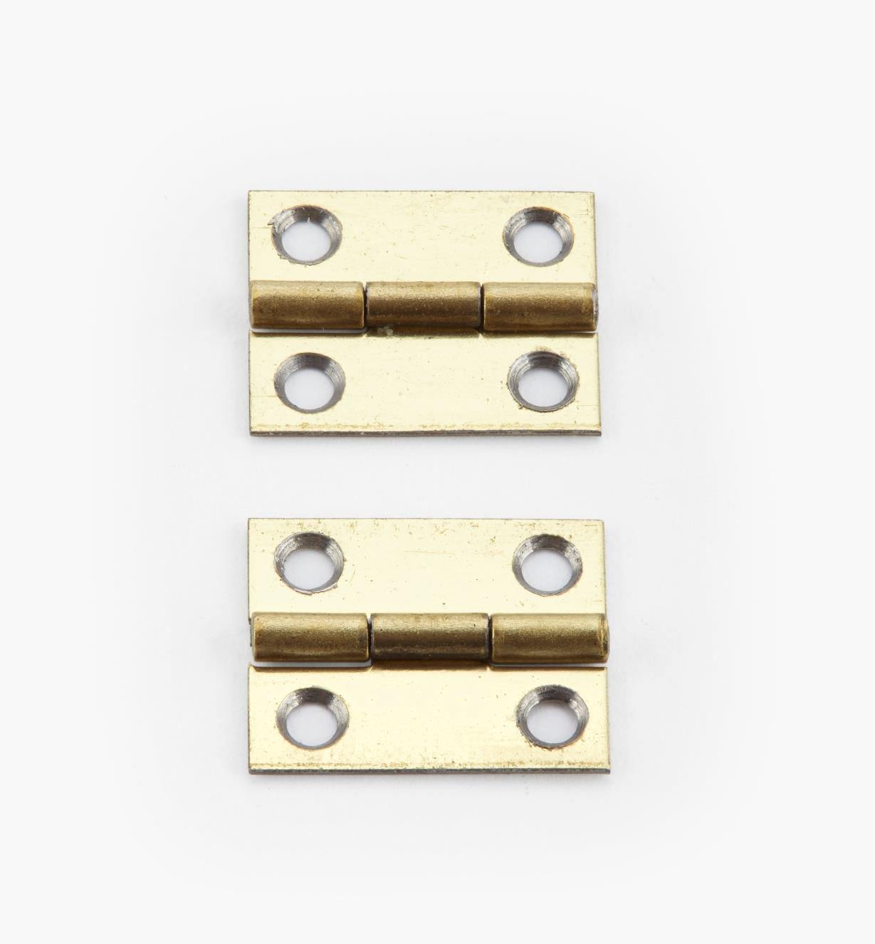 00D3005 - 15mm x 12mm Small Box Hinges, pr.