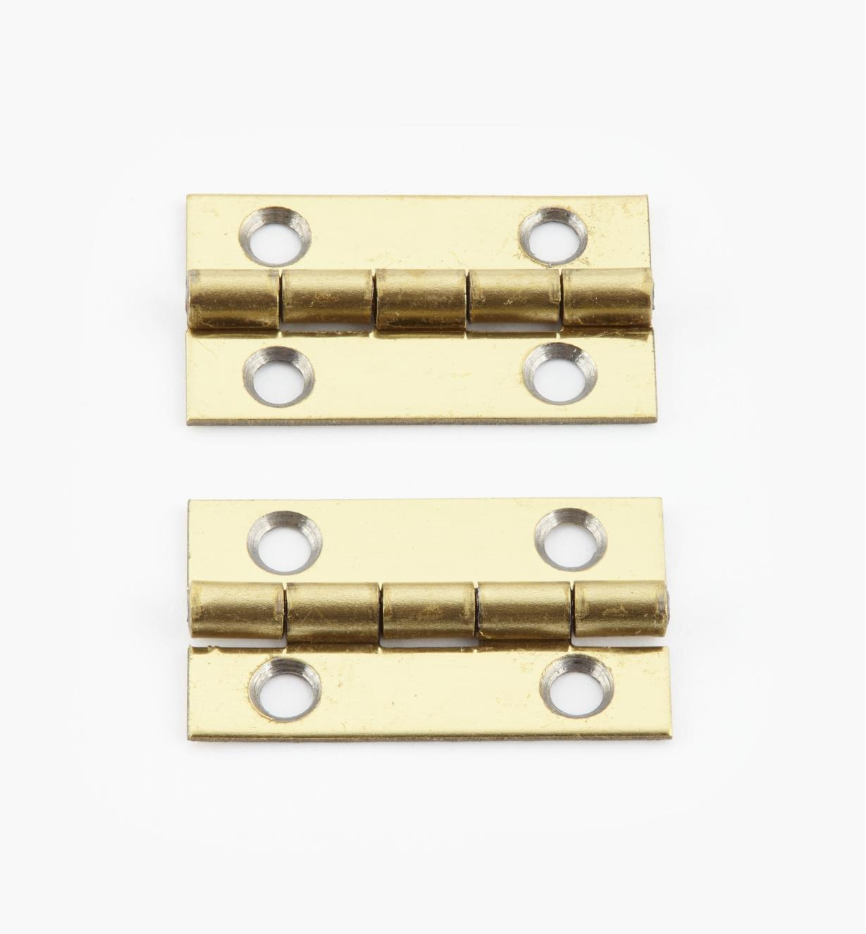 00D3008 - 25mm x 15mm Small Box Hinges, pr.