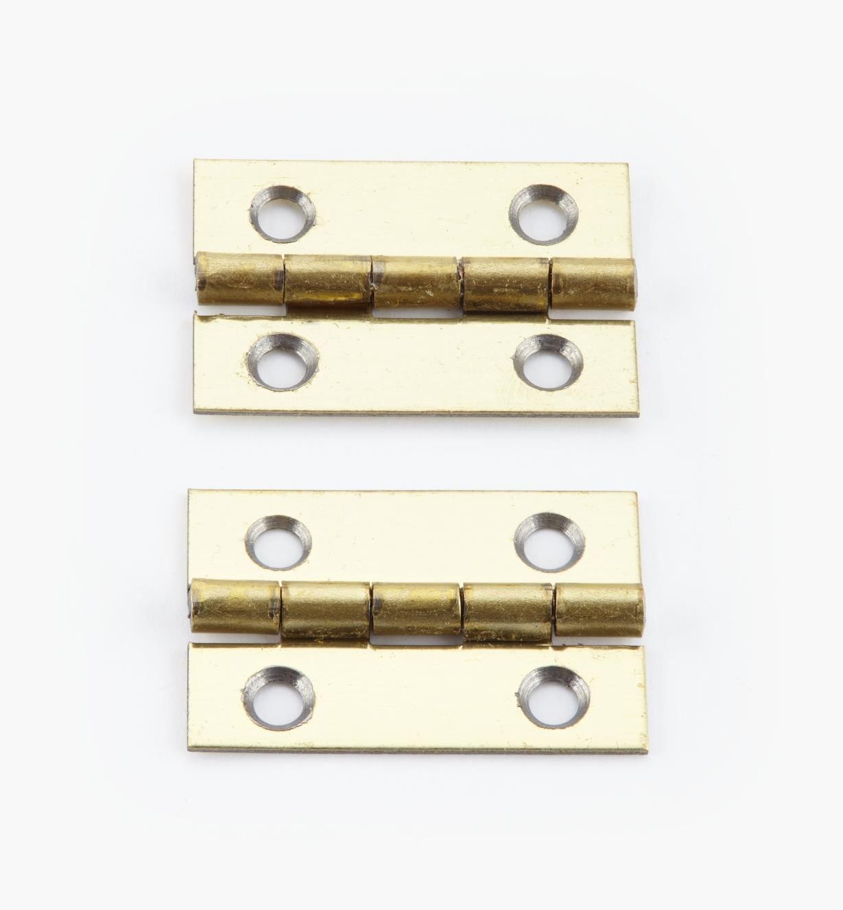 00D3012 - 25mm x 17mm Small Box Hinges, pr.