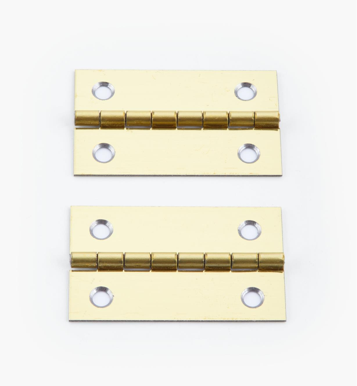 00D3022 - 40mm x 25mm Small Box Hinges, pr.