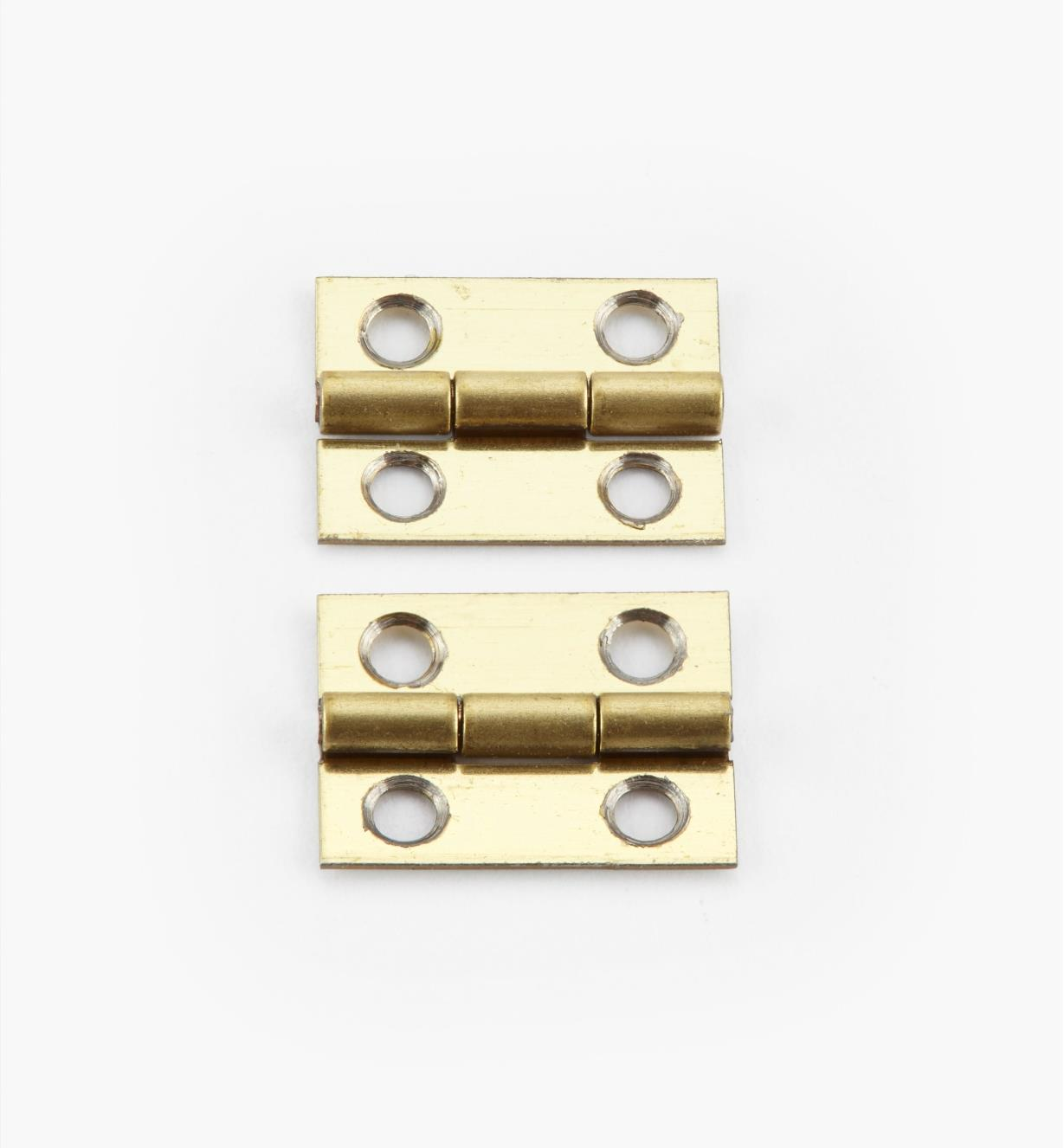 00D3050 - 12mm x 9mm Small Box Hinges, pr.
