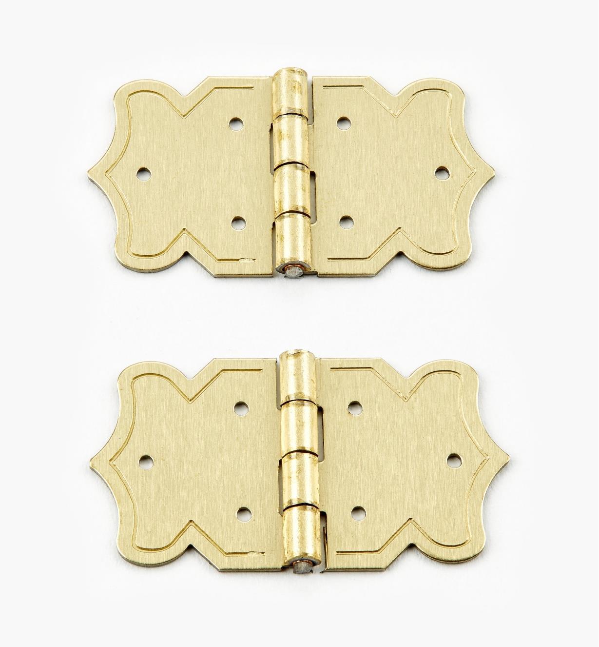 00D4201 - Charnières pour coffret de 20 mm x 37mm, lapaire
