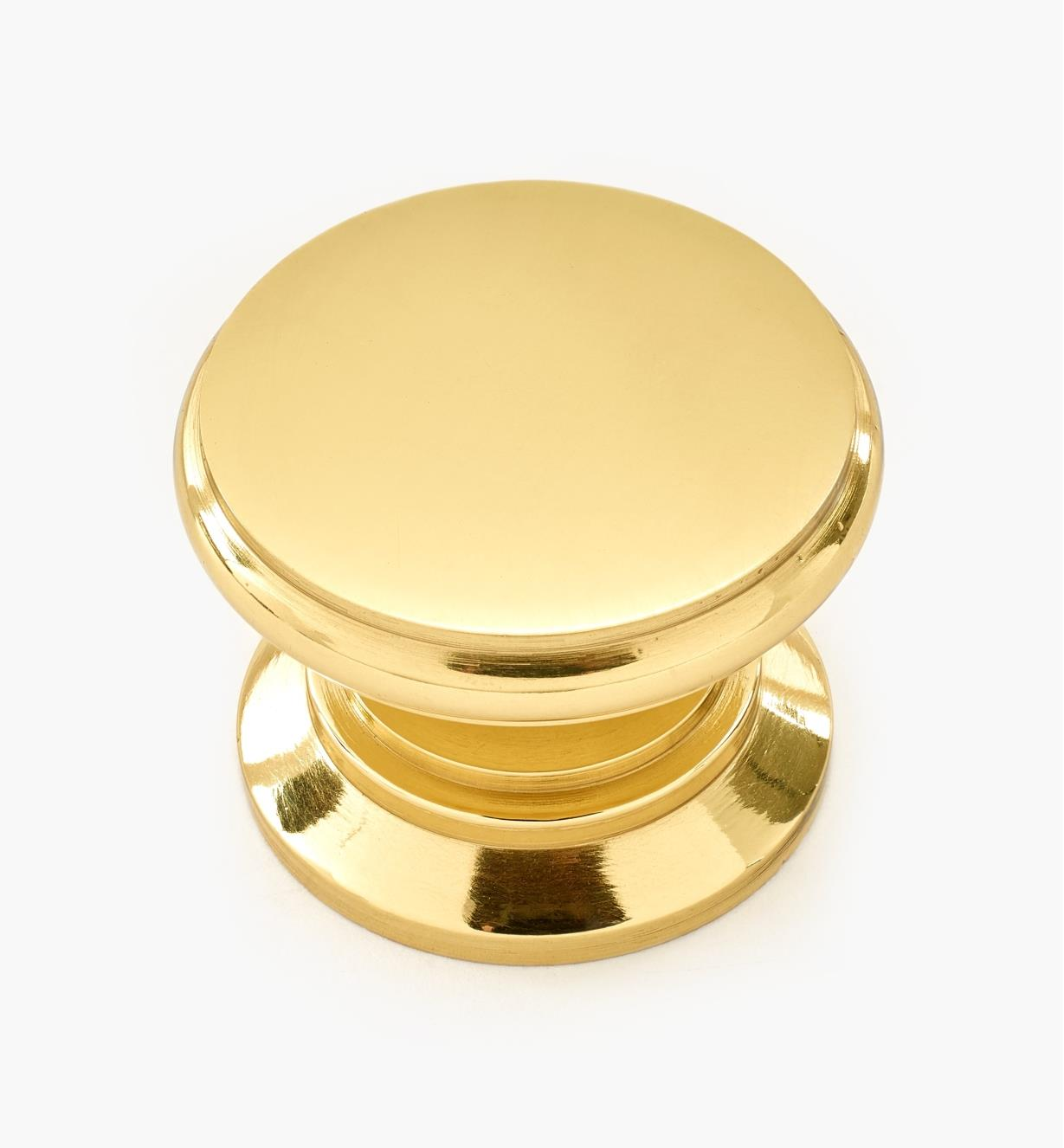 01W1323 - 30mm x 21mm Sm. Brass Knob