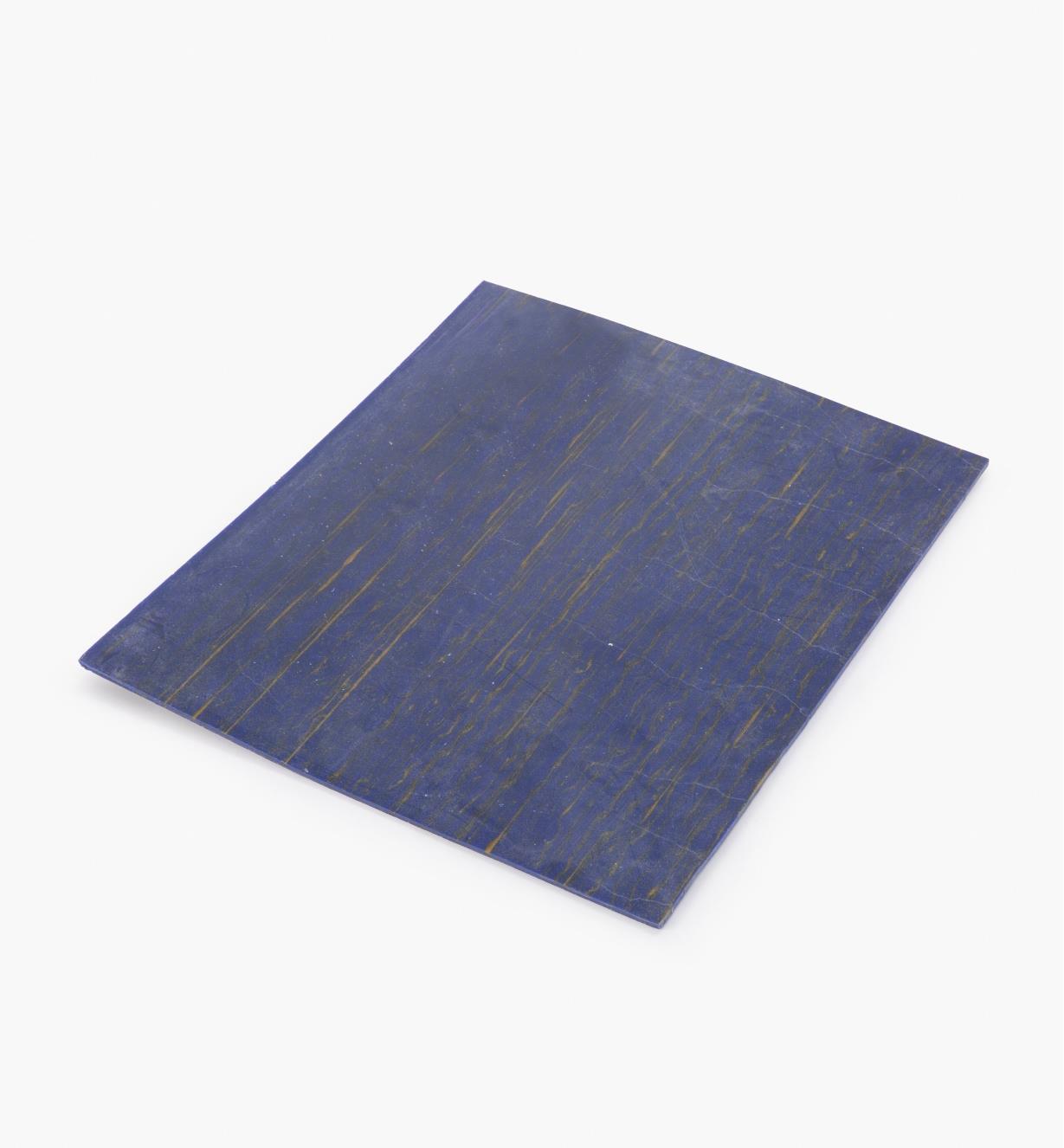 87K2109 - Plaque imitation lapis-lazuli, 23 cm x 28 cm x 3 mm