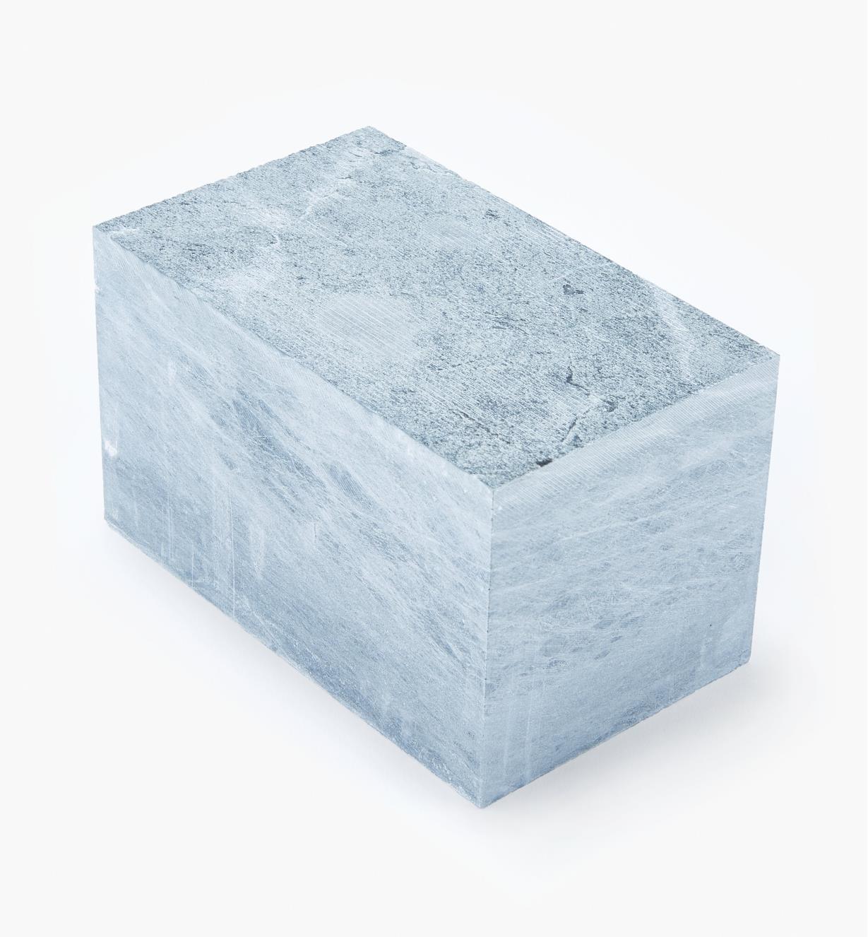 55K4001 - Bloc de pierre à savon, 3po x 3po x 5po
