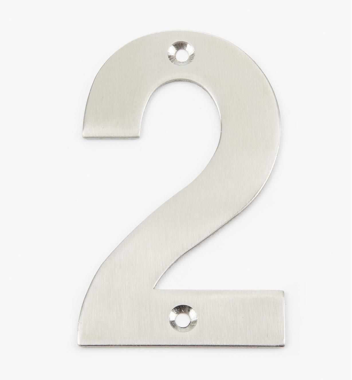 00W0882 - 100mm Stainless-Steel House Number - 2