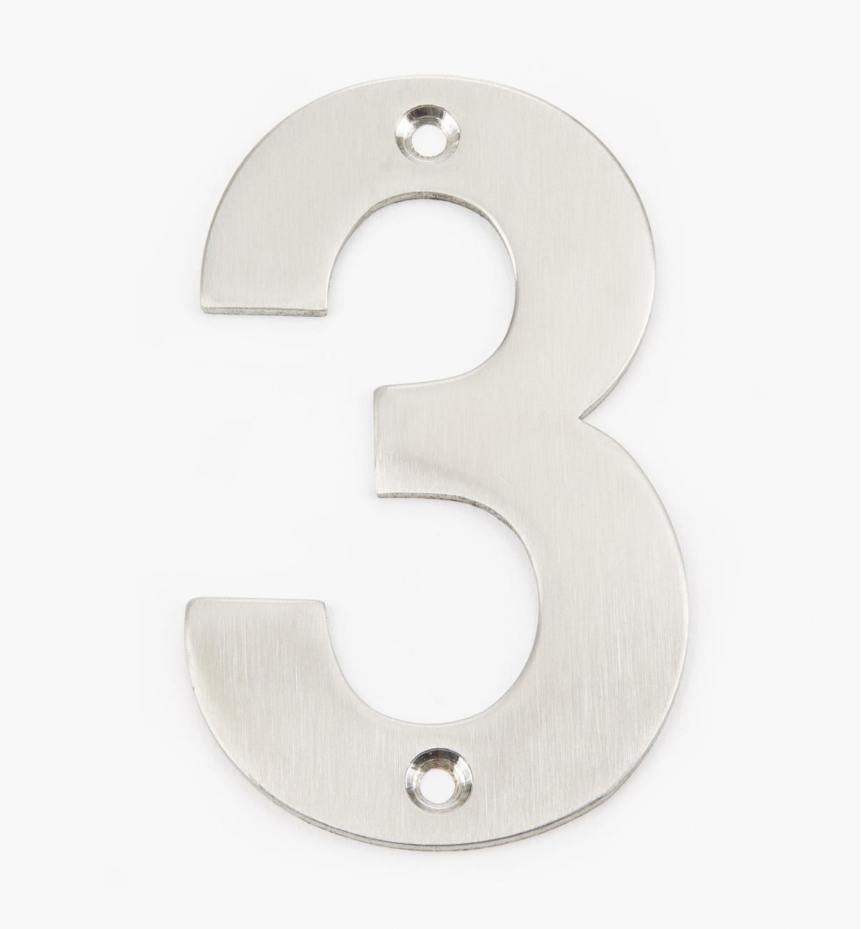 00W0883 - 100mm Stainless-Steel House Number - 3