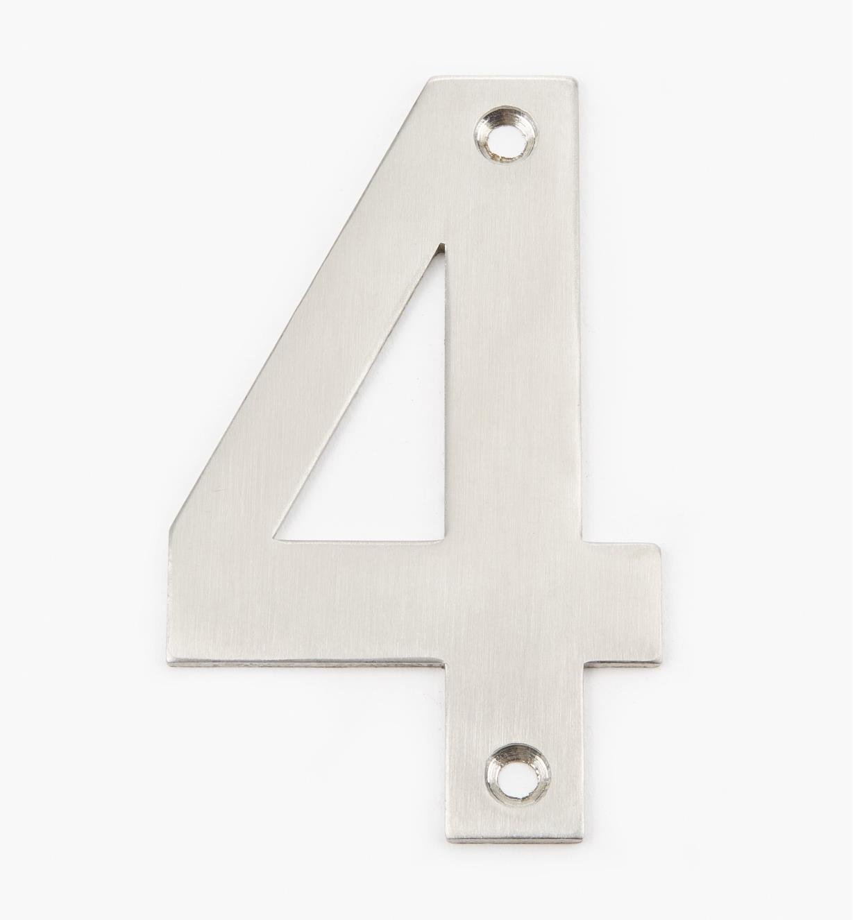 00W0884 - 100mm Stainless-Steel House Number - 4