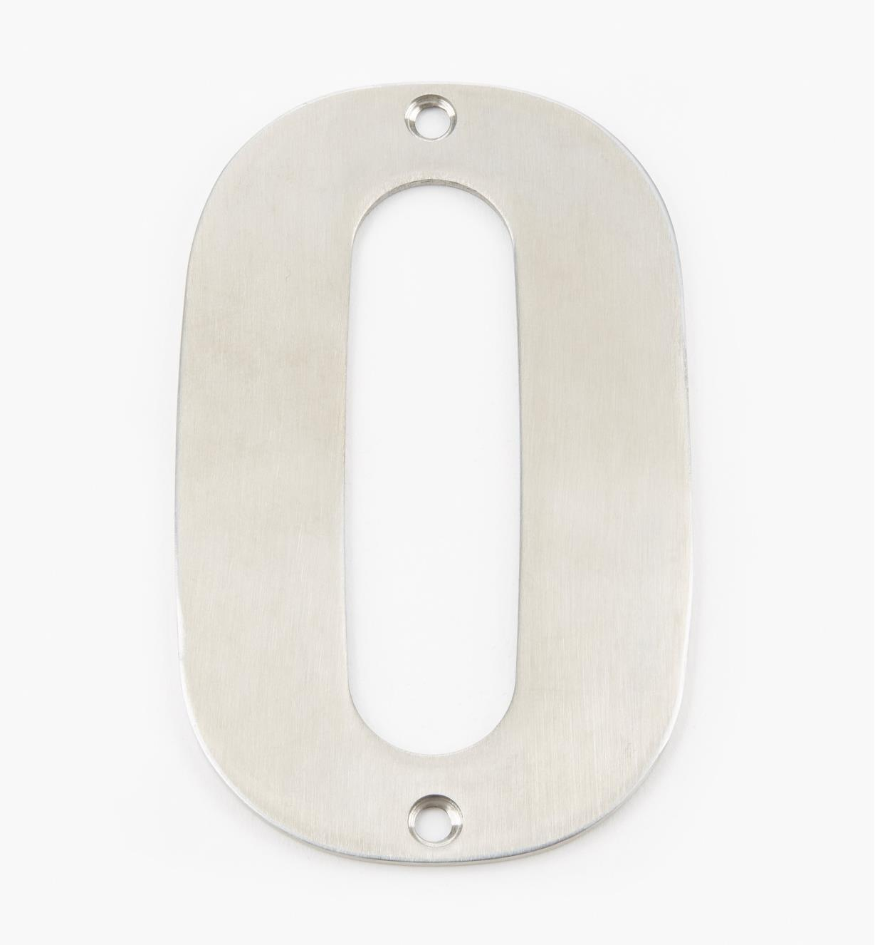 00W0890 - 130mm Stainless-Steel House Number - 0
