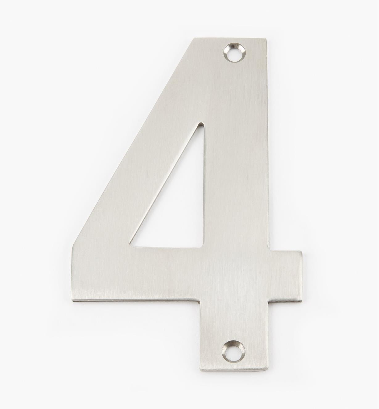 00W0894 - 130mm Stainless-Steel House Number - 4