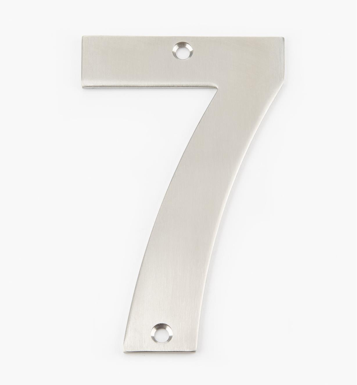 00W0897 - 130mm Stainless-Steel House Number - 7
