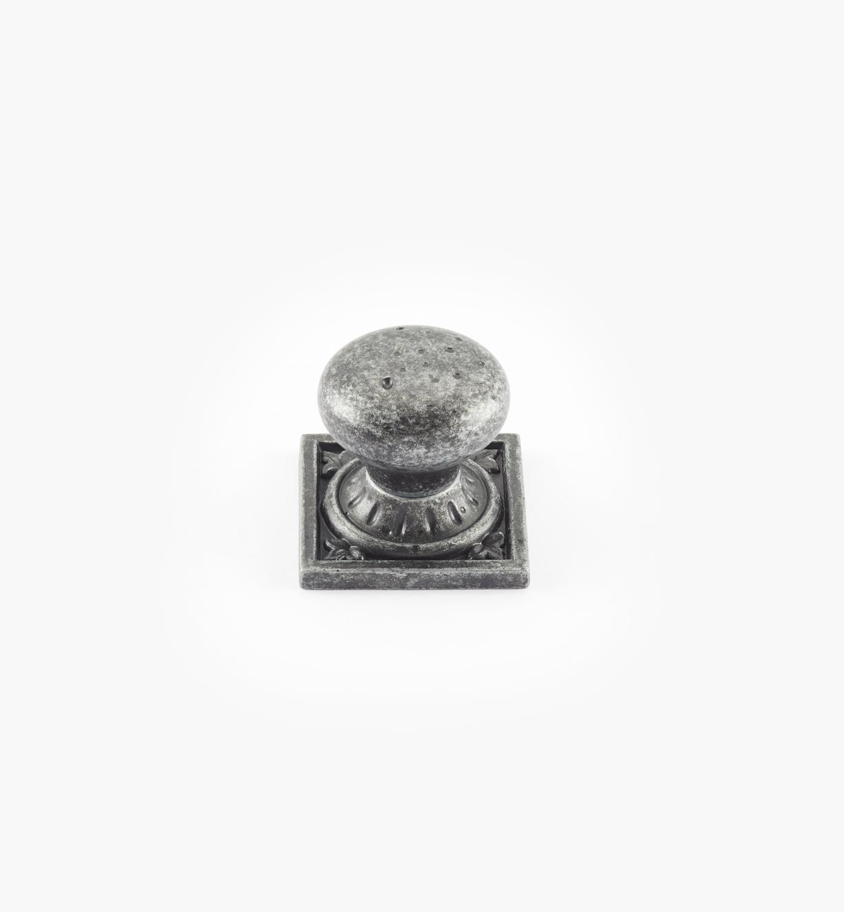 "02A2623 - Ambrosia 1 1/4"" x 1 1/4"" Wrought Iron Square Knob"