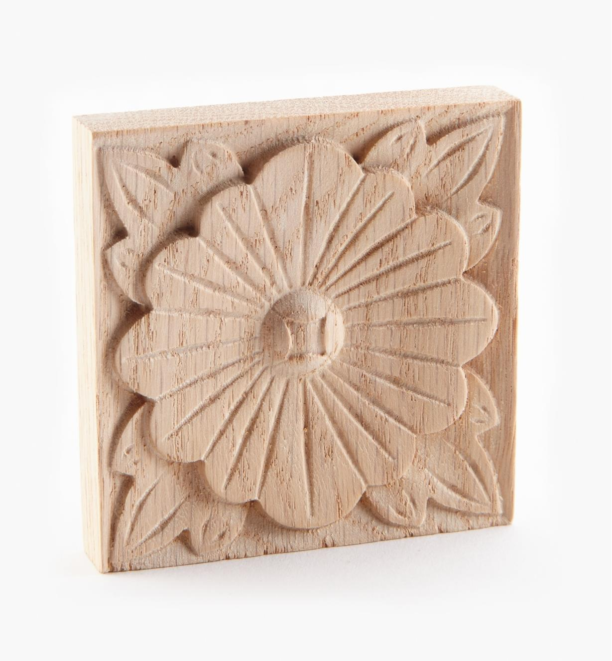 "02B0341 - 2 3/4"" Square Oak Appliqués"
