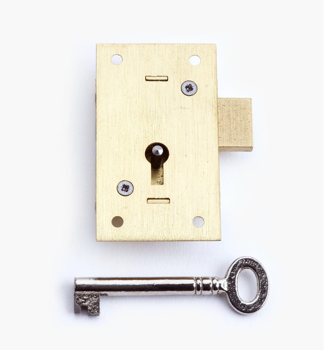 "00P2525 - 2 1/2"" Standard Straight Cupboard Lock"