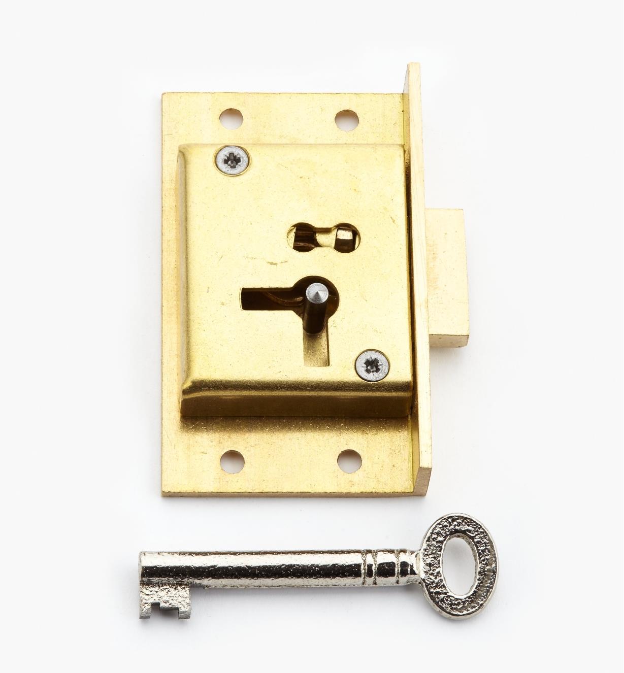 00P2925 - Serrure d'armoire standard à encastrer, 21/2po (D)