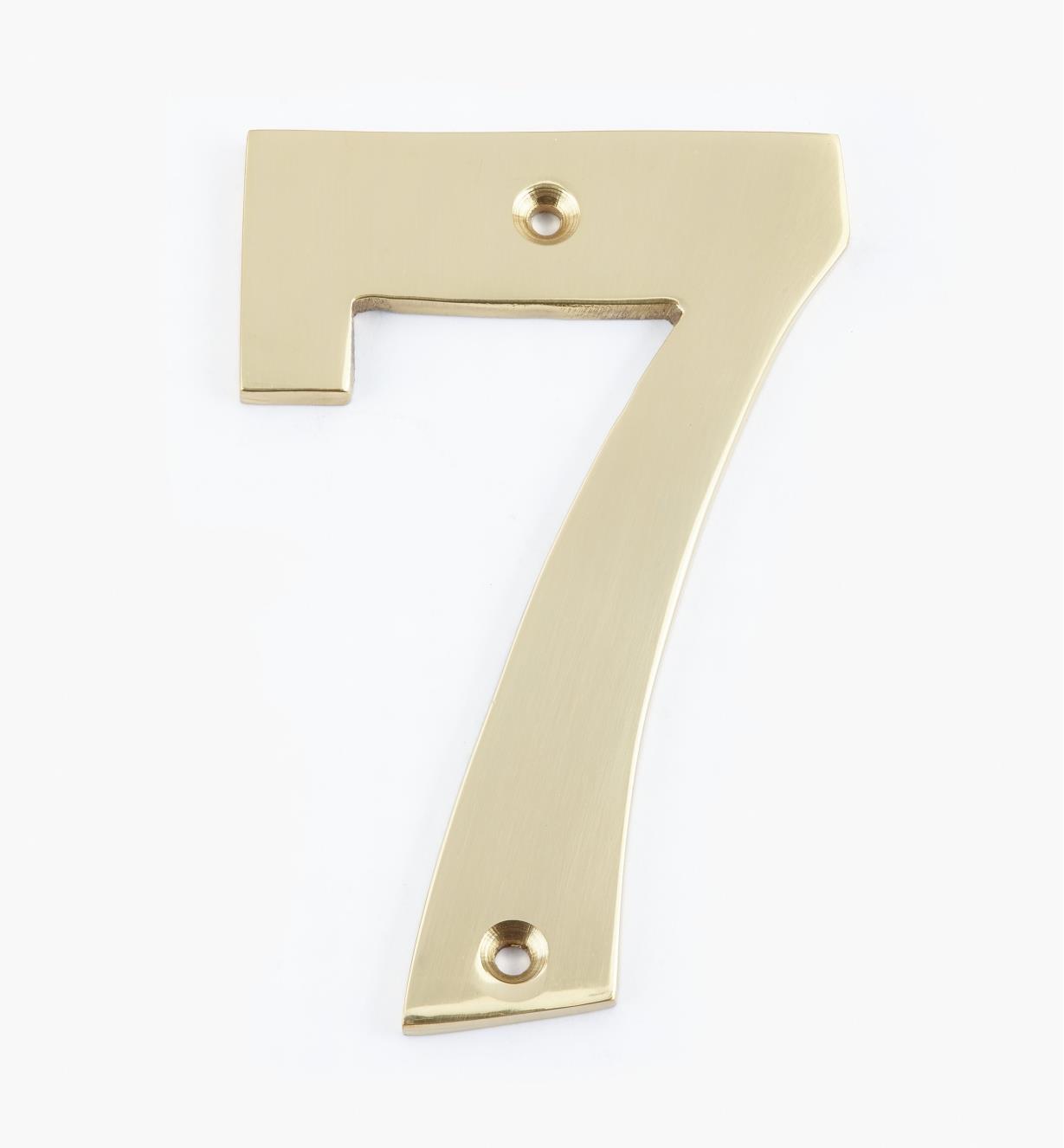 "00W0557 - 4"" Standard Polished Brass Number - 7"