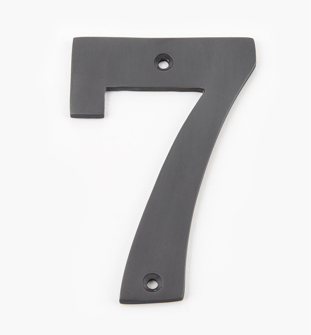 "00W0577 - 4"" Standard Oil-Rubbed Bronze Number - 7"