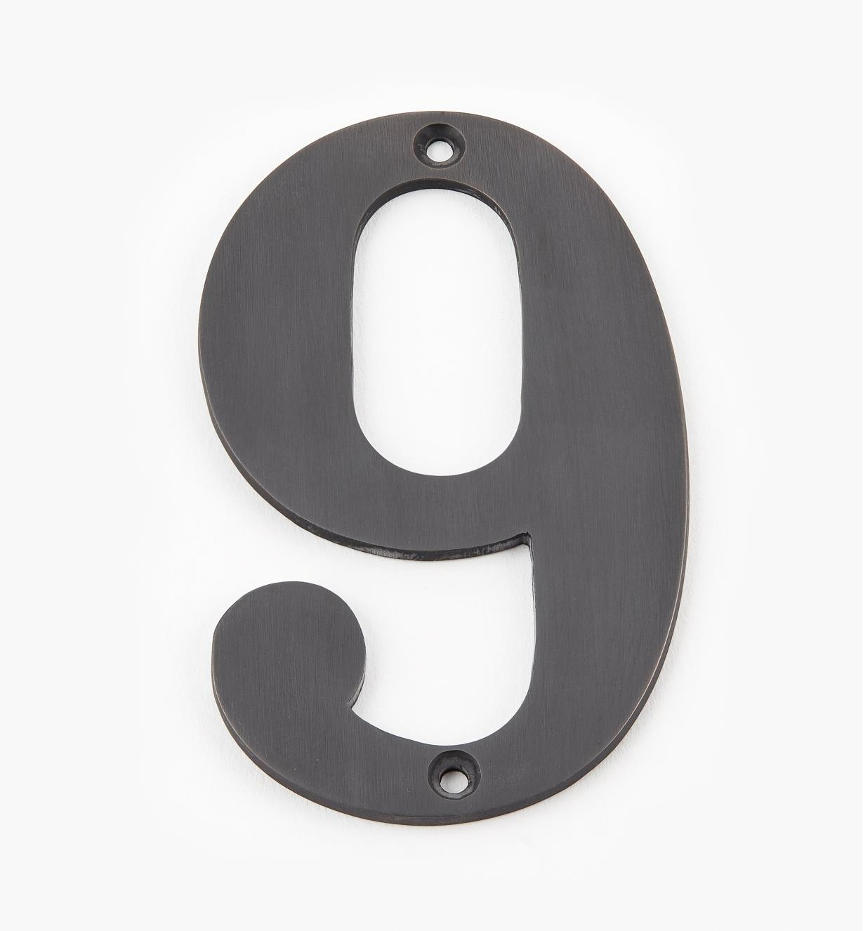 "00W0579 - 4"" Standard Oil-Rubbed Bronze Number - 9"
