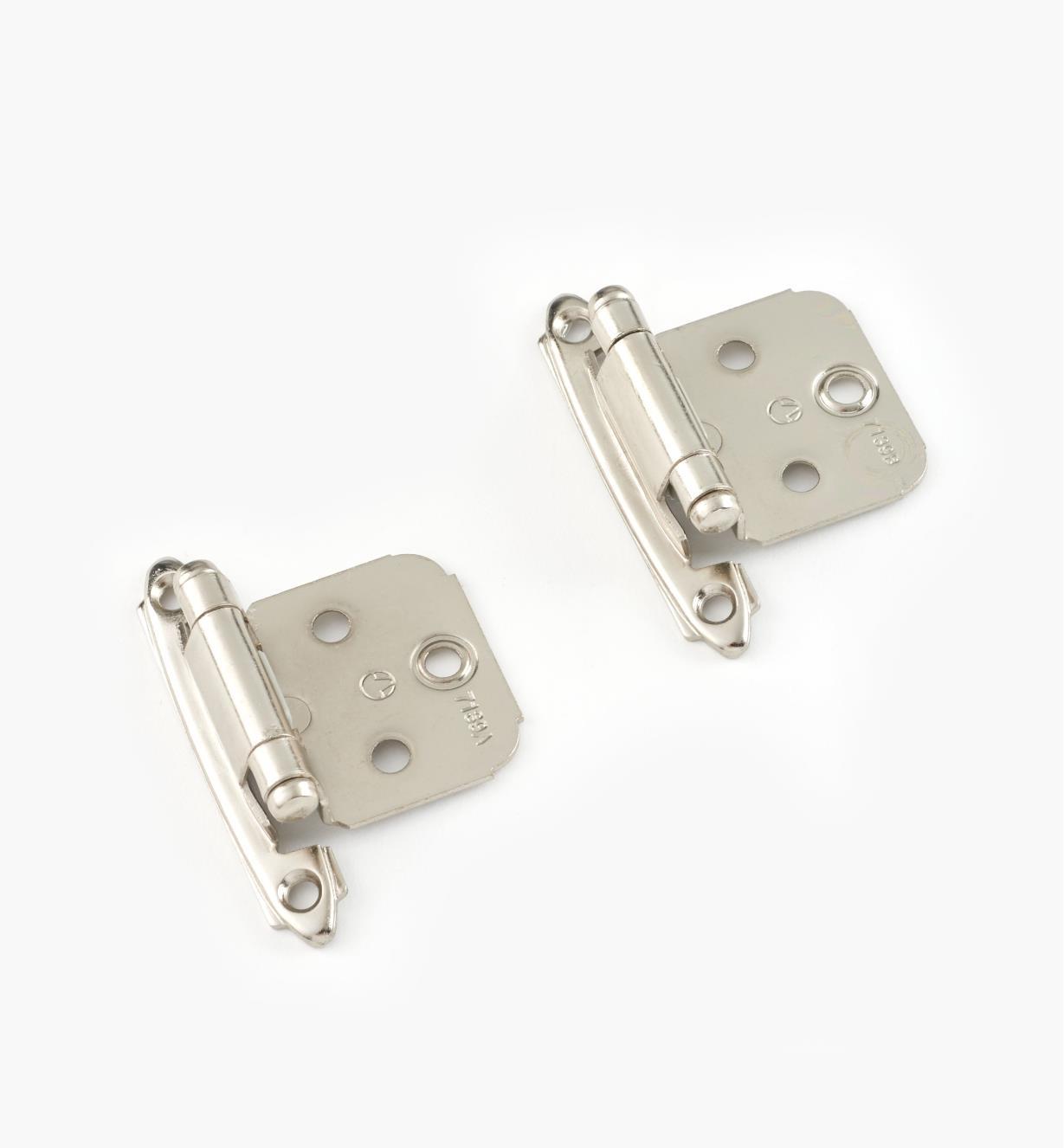 01H3201 - Nickel Plate Cupboard Hinges, pair