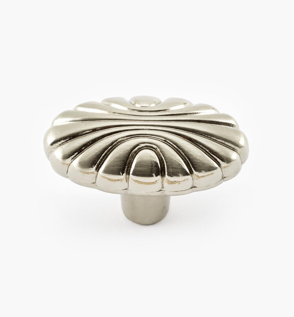 "02A2212 - Amerock Natural Elegance Satin Nickel 1 9/16"" x 1"" Oval Shell Knob, ea."