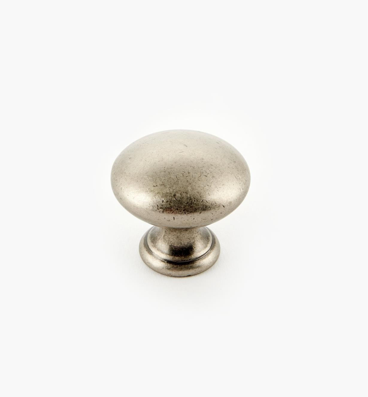 "03W2300 - 1 1/4"" Antique Silver Knob, each"