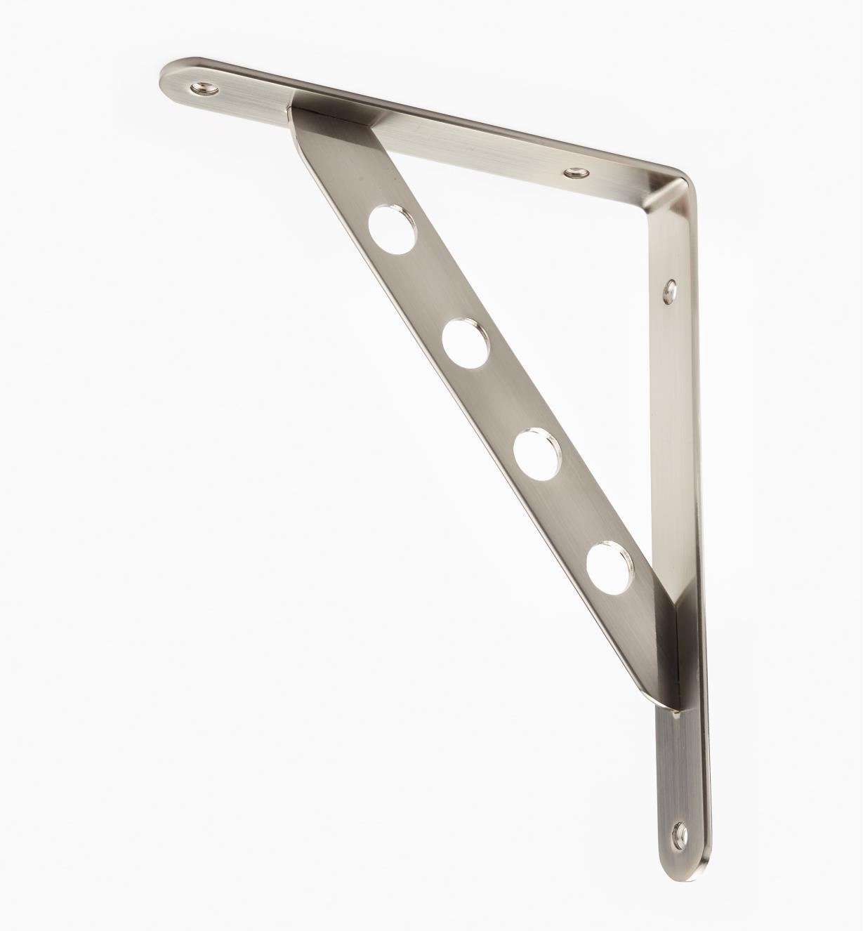 00S0650 - Console droite en acier, nickel brossé, 93/4po × 73/4po, l'unité