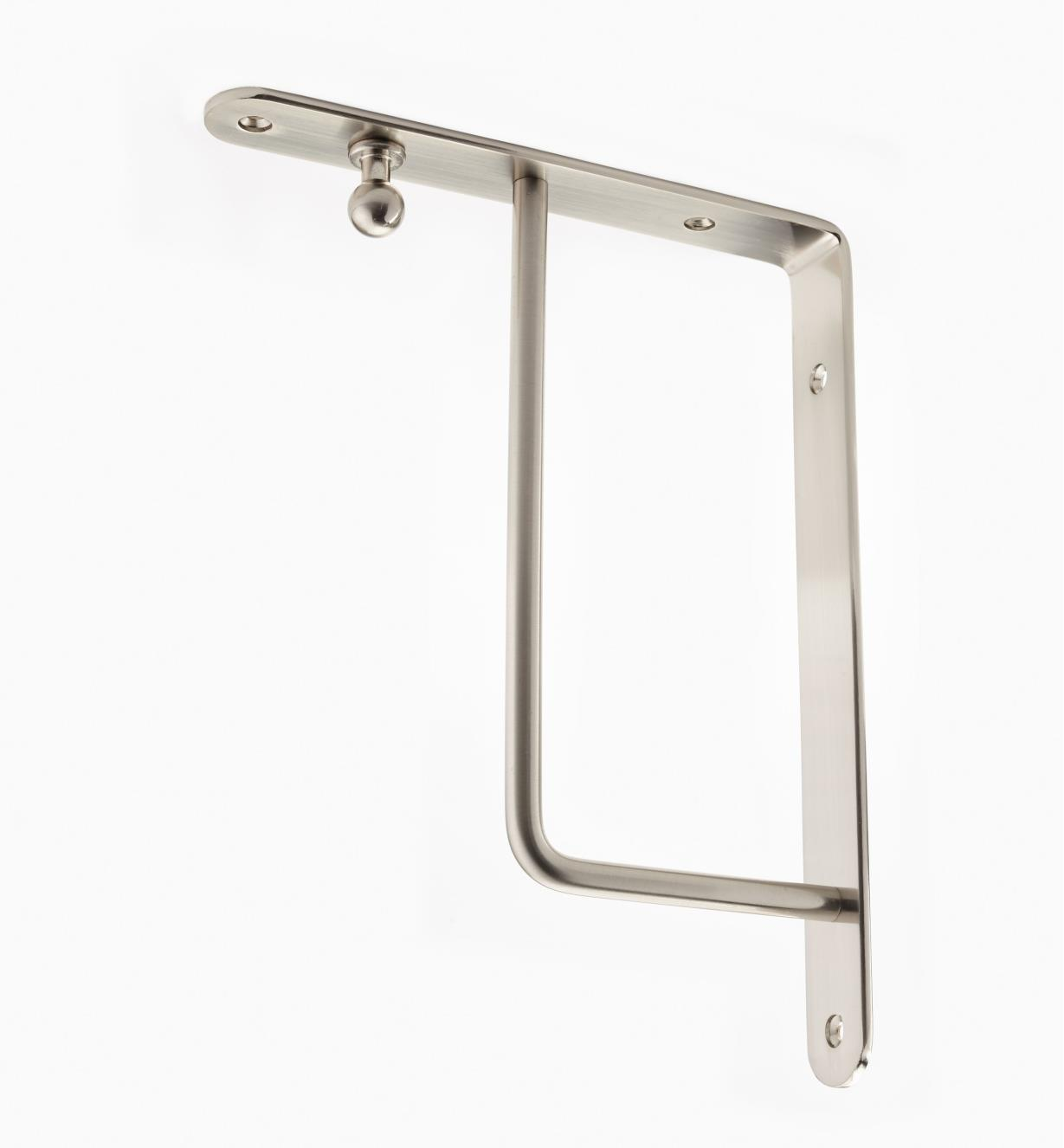 "00S0656 - Brushed Nickel Finish, Square Steel Shelf Bracket (9 3/4"" x 7 5/8""), ea."