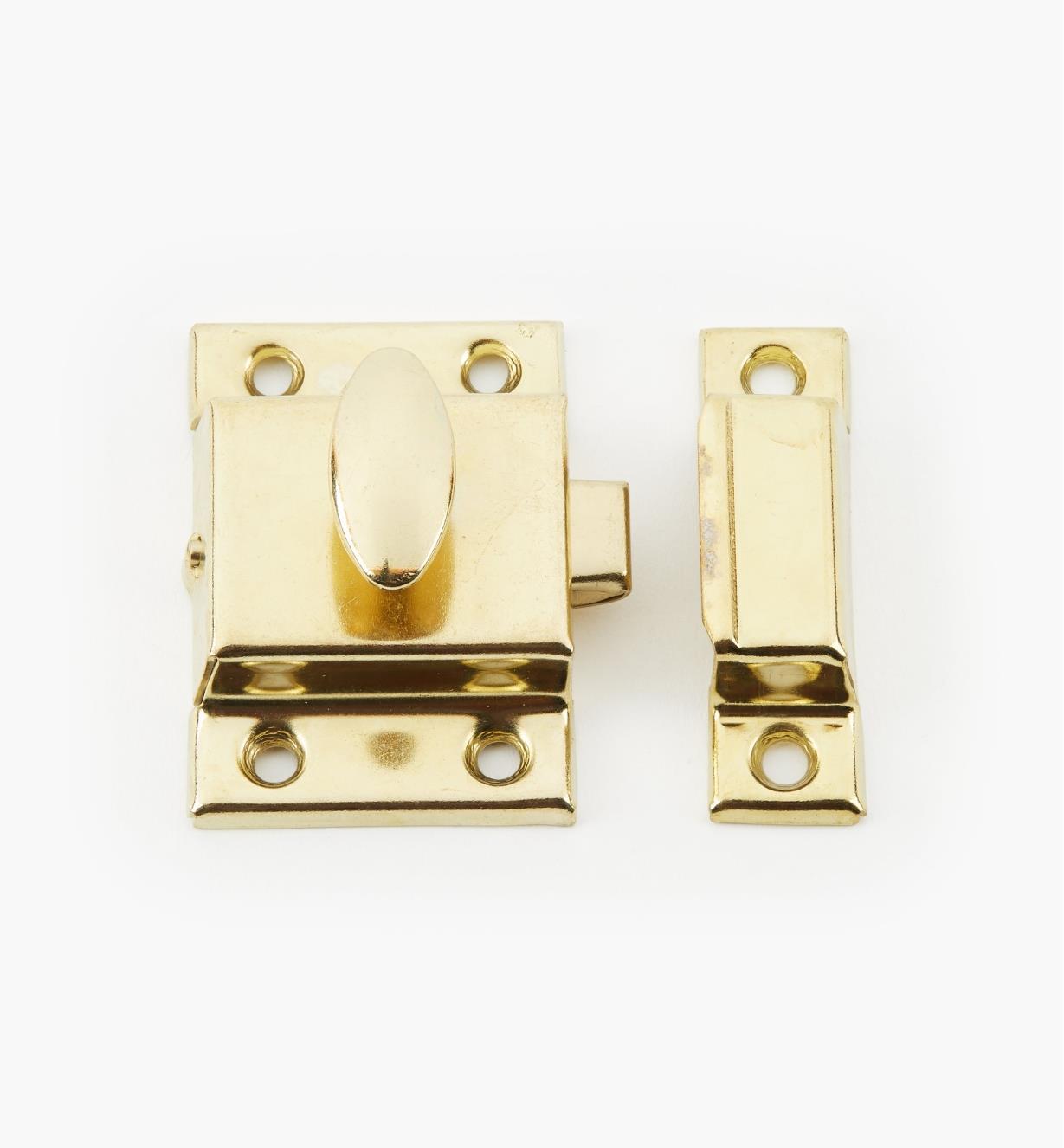 """01L0501 - 1 1/2"""" Brass Plate Catch"""