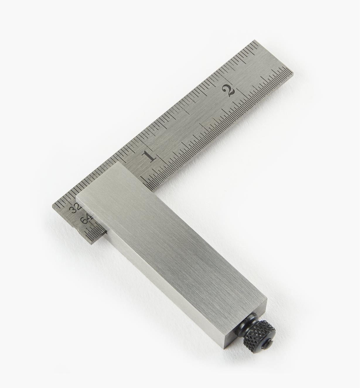 30N2910 - Équerre réglable de précision en acier Starrett, mesures impériales