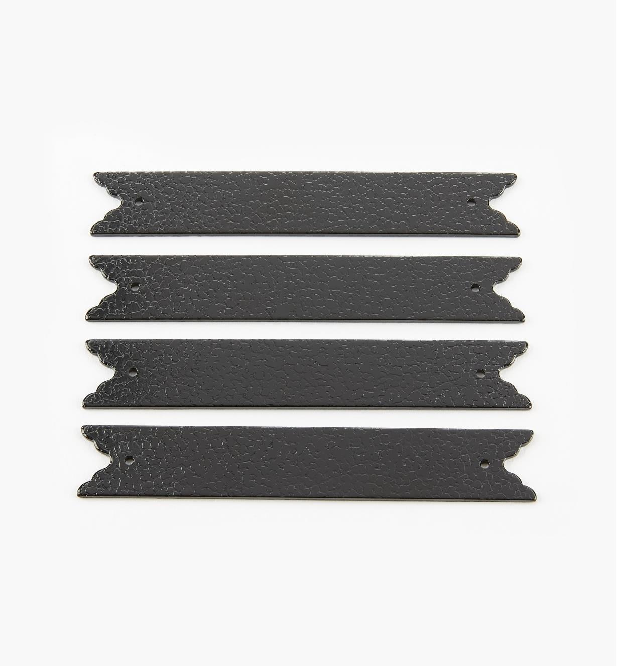 00D5610 - Plaques droites de 100 mm (17 mm), quincaillerie Tansu, le paquet de 4