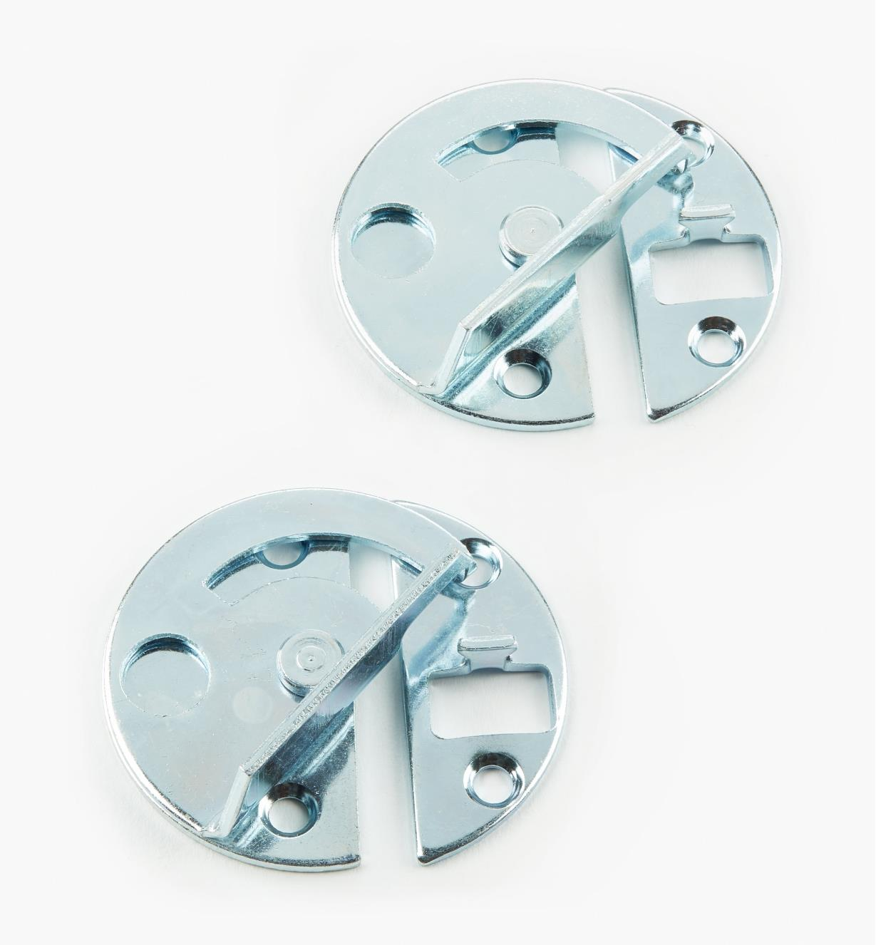 00S1022 - Table-Leaf Fasteners, pair