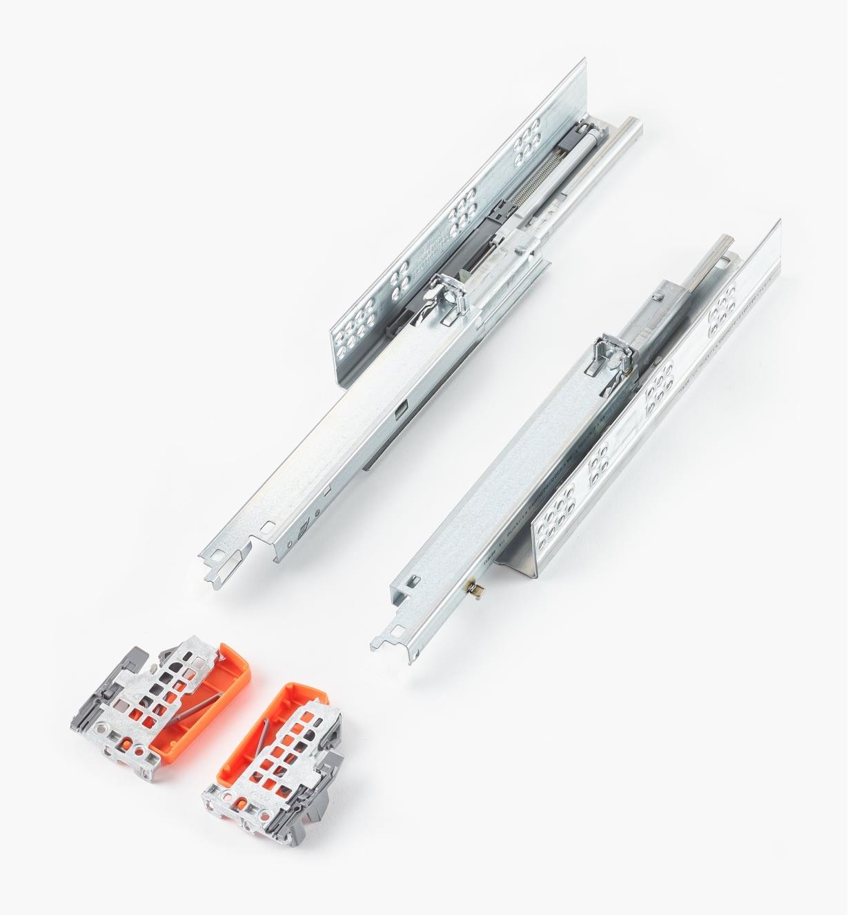 02K5127 - Coulisses Tandem plus de 270mm avec amortisseurs Blumotion, la paire