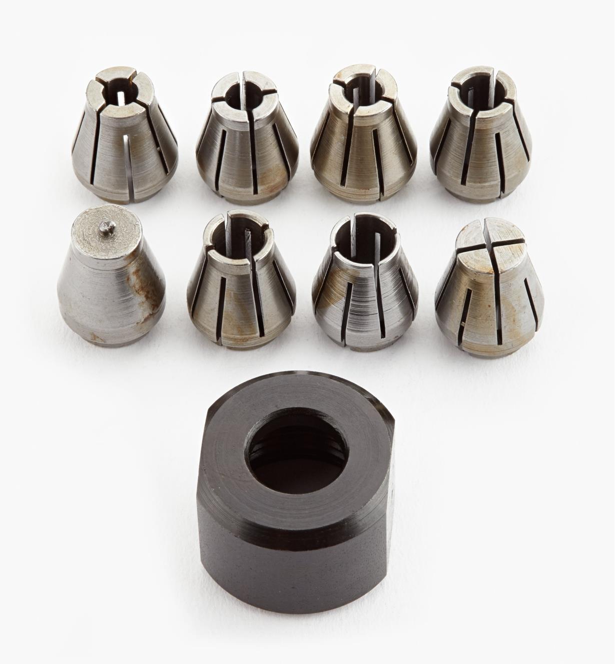 03J7011 - 9-Piece Collet/Nut Set