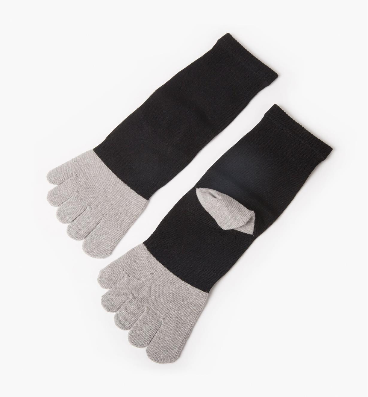 Black/Gray Toe Socks